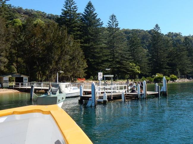 The ferry wharf.