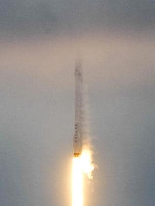 The SpaceX Falcon rocket launches. Picture: Craig Bailey/Florida Today via AP