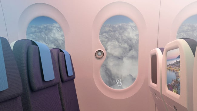 Some new planes will even have fake windows.