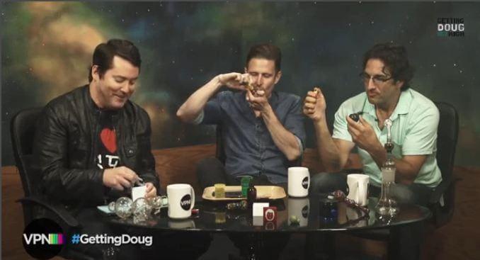 Wil Anderson smoking marijuana