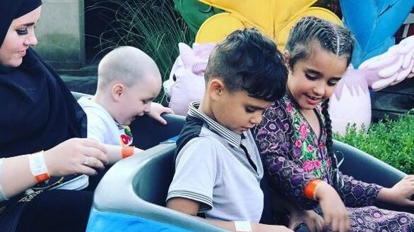 Ms Ali took her kids to the theme park over the Bank Holiday weekend. Picture: BPM Media