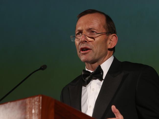 Tony Abbott gave the main address at the Liberal fundraiser.