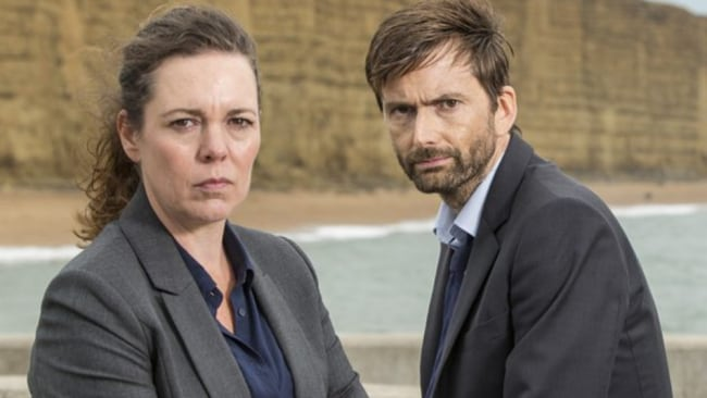 Olivia Colman and David Tennant in 'Broadchurch'. Source: Supplied