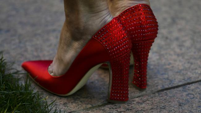 Julie Bishop's famous shoes. Picture: AAP