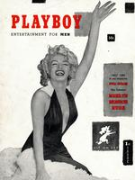 Marilyn Monroe on the first cover of Playboy magazine, December 1953. Picture: Playboy