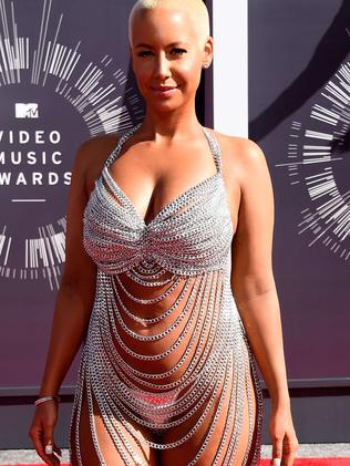 Amber Rose attends the 2014 MTV Video Music Awards.