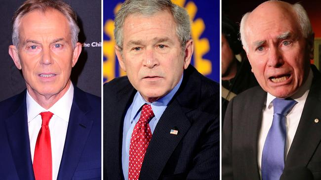 Former UK Prime Minister Tony Blair, US President George W. Bush and John Howard were the chief cheerleaders for going to war.