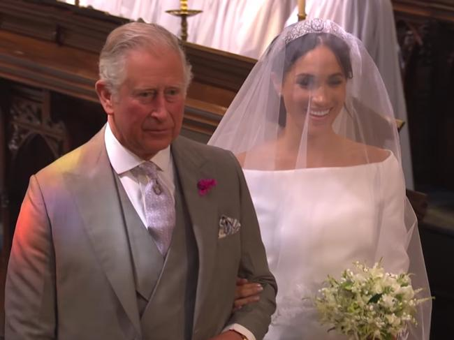 The two are said to share a close bond — Prince Charles even walked Meghan down the aisle at her wedding to Prince Harry. Picture: BBC