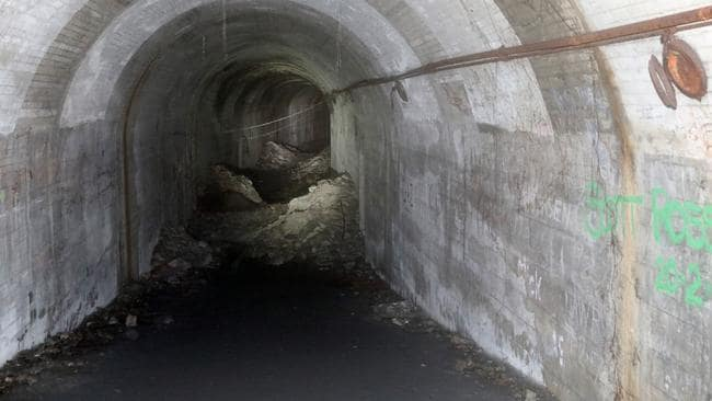 The abandoned tunnels under St James Station are hauntingly silent. Picture: Andrew Murray.