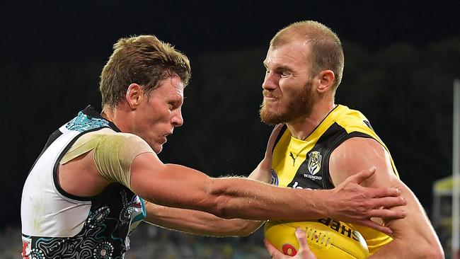 Port adelaide attack best defence for power against dogs adelaide now brad ebert says the richmond game is the blueprint for port adelaide picture daniel kaliszgetty images malvernweather Image collections