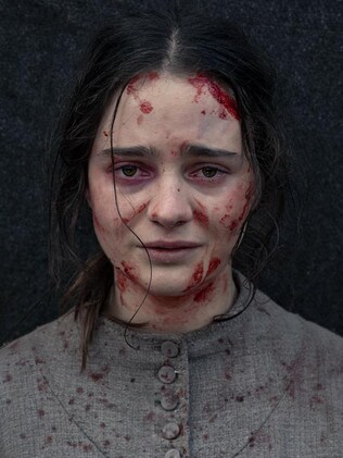 Aisling Fanciosi plays a young Irish convict who chases a British officer though the Tassie bush