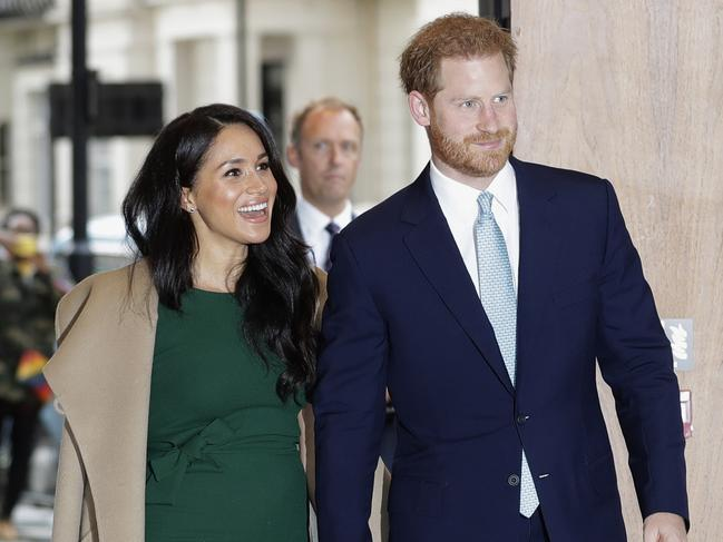 Prince Harry and Meghan, Duchess of Sussex arrive to attend the WellChild Awards Ceremony in London. Picture: AP