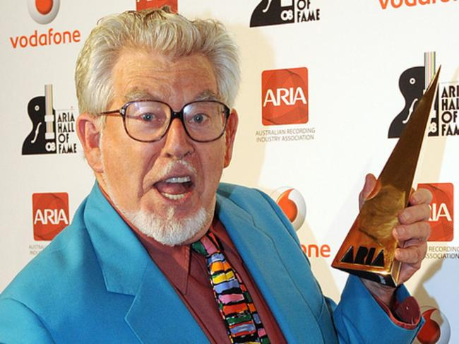 Best of times ... Rolf Harris sports that necktie for his big ARIA moment in 2008.