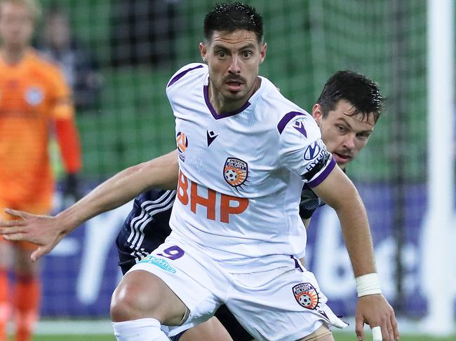 Bruno Fornaroli is now leading the line for Perth Glory. Picture: AAP Image