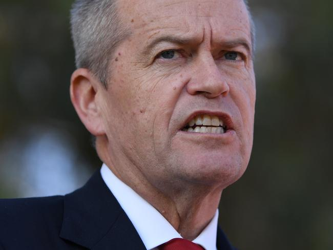 The result is a massive blow for Opposition Leader Bill Shorten, whose party had been ahead in almost all recent polls. Picture: AAP Image/Lukas Coch