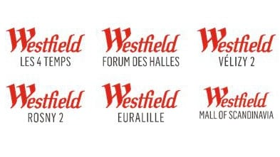 The logos for Europe's new Westfield. Let's meet at Westfield Rosny 2.