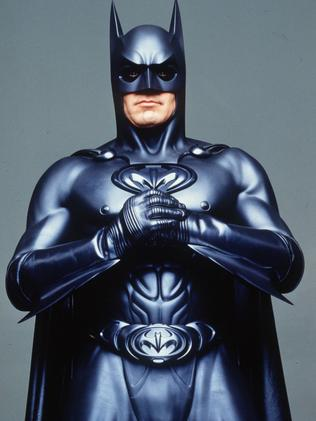 Holy Bat nipples! George Clooney's rubberised Batman.