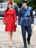 Kate and Wills arrive to board the royal barge 'Spirit of Chartwell' during the Thames Diamond Jubilee Pageant on the River Thames in London in June. Picture: AFP