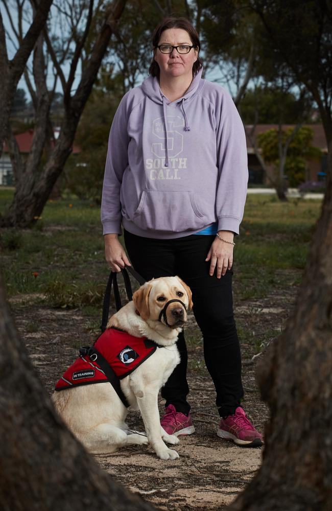 Park owner Alan Rowett said service and companion dogs were always accepted as long as owners had certification via the SA Dog and Cat Management Board. Picture: MATT LOXTON