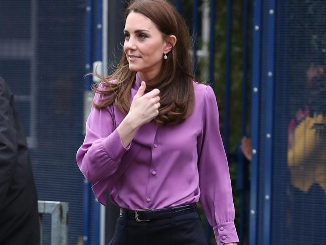 However some people believe the Duchess wore it this way to make a statement. Picture: Neil Mockford/GC Images