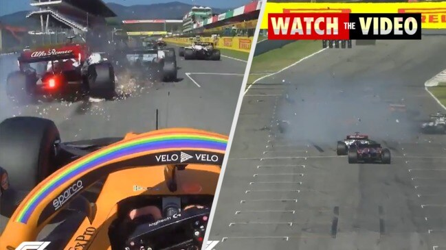 Mammoth crashes spark two red flags in F1 'madness' at Tuscan GP