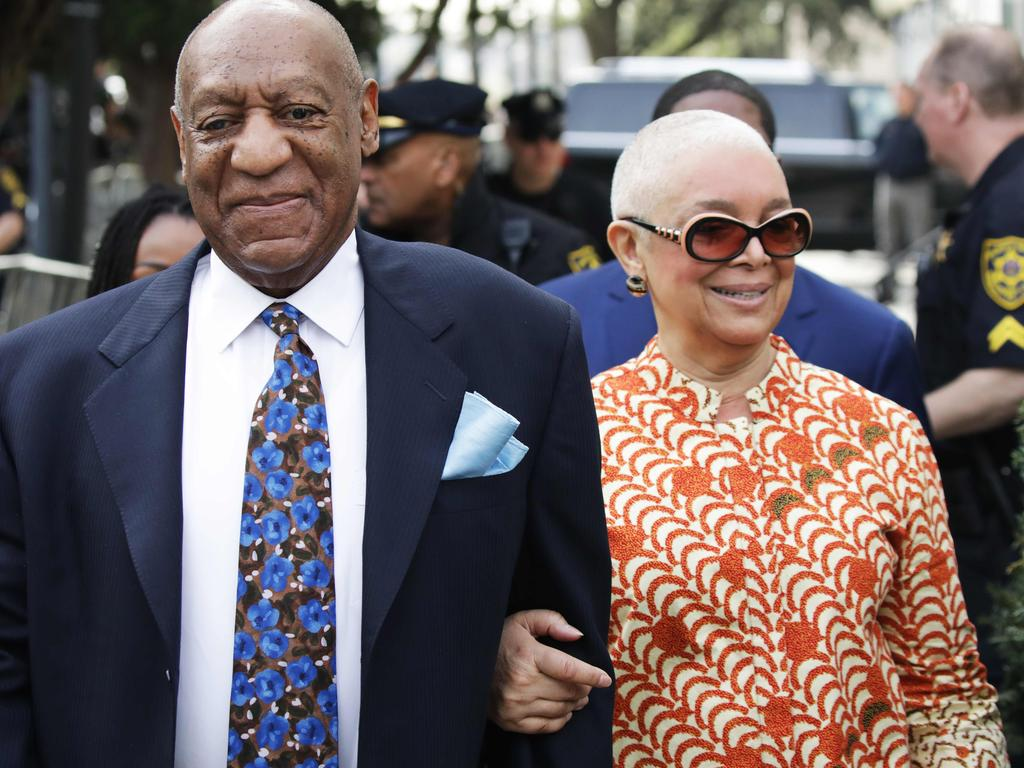 Bill Cosby was regularly supported in court by his wife, Camille. Picture: AFP