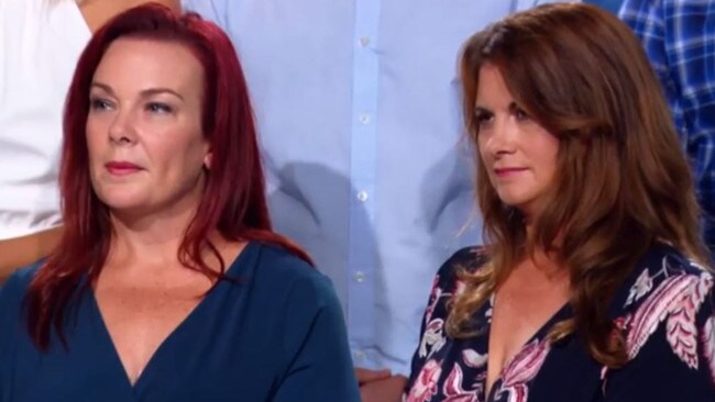 Nicole Prince (right) said she had suffered post-traumatic stress disorder following House Rules. Picture: Seven.