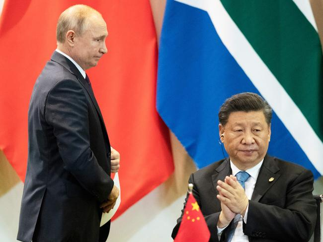 Putin is certainly no Xi. Picture: Pavel Golovkin/AFP