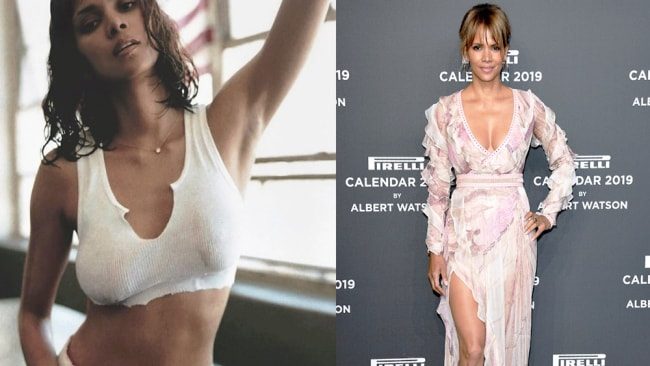 Image 1: Instagram @halleberry; Image 2: Getty Images.