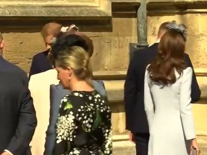 As William walked past, Harry turned his head away, seemingly to avoid eye contact. Picture: Supplied