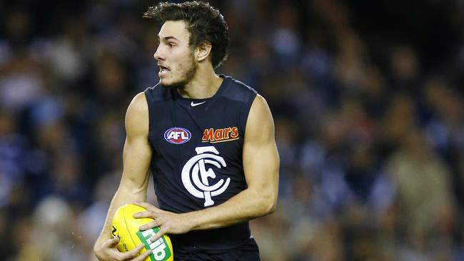 Troy Menzel has re-signed with Carlton. Picture: Michael Klein