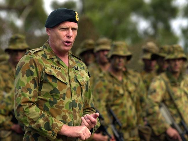 Senator Molan said he could not have served in Papua New Guinea, Indonesia and Iraq if he was racist. Picture: Corporal Jason Weeding