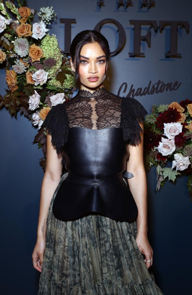 Shanina Shaik wearing head-to-toe Dior at Chadstone last night. Picture: Matrix