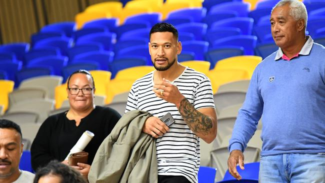 Israel Folau is a devoted born again Christian whose homophobic remarks landed him in hot water with Rugby Australia. Picture: AAP
