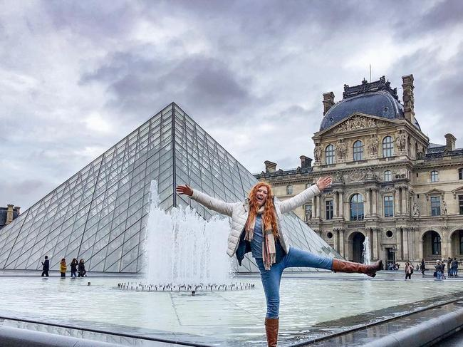 Outside the Louvre in Paris. Picture: Jam Press