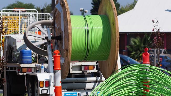 The original NBN plan called for a lot more of these green fibre optic cables.