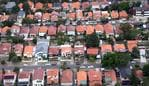 Generic aerial view of houses in a suburb of Sydney. Picture: Taylor Adam