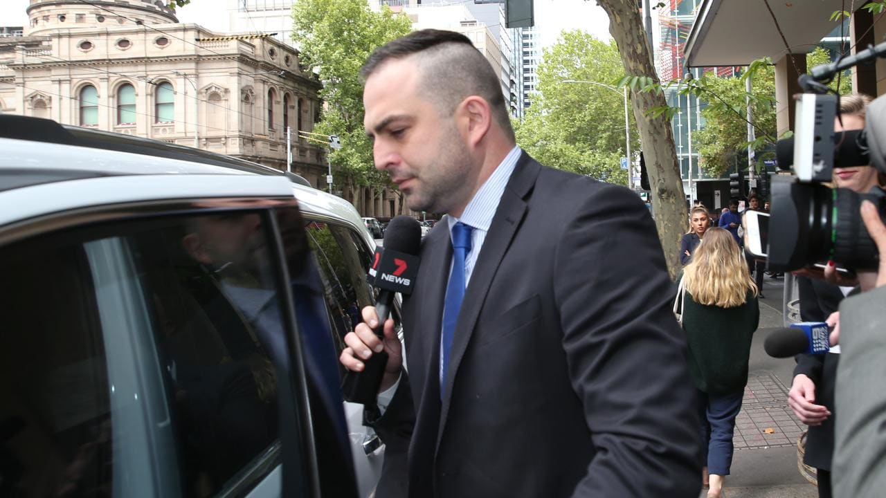 Brian Lake leaves the Melbourne Magistrate court. . Picture: David Crosling