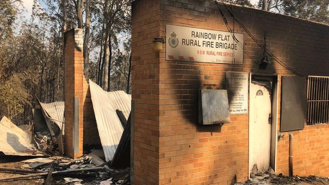 The Rainbow Flat Rural Fire Brigade building. Picture: Facebook