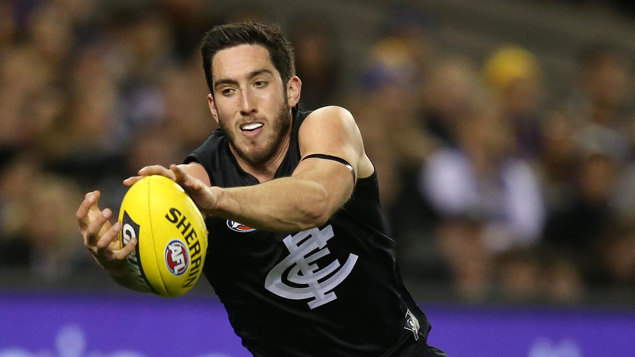 Jacob Weitering averaged career-high intercepts, contested marks, spoils and metres gained in 2020. Picture: Michael Klein