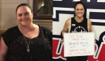 Shannon's lost over 40kg. Image: Supplied.
