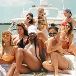 Kylie Jenner rings in her 19th birthday on a Caribbean getaway with her girl gang. Picture: Instagram