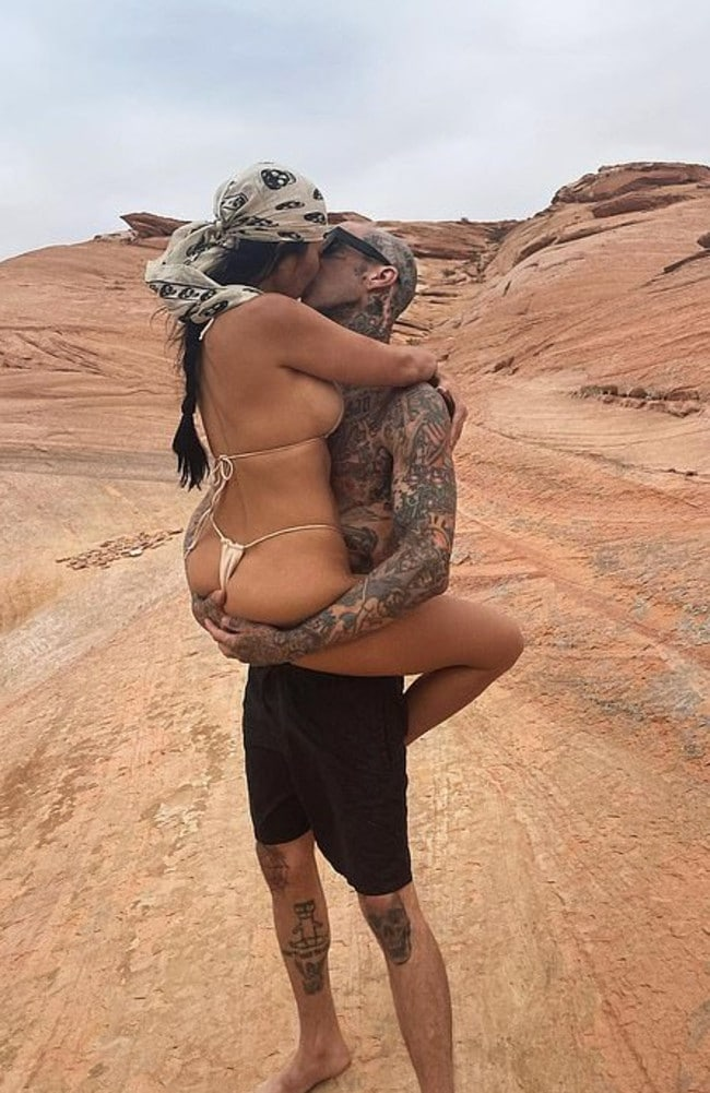 Not everyone is impressed by Kourtney Kardashian and Travis Barker's escalating PDA. Picture: Instagram