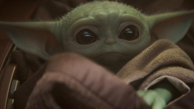 Baby Yoda from The Mandalorian, a Disney+'s flagship series. Picture: AP