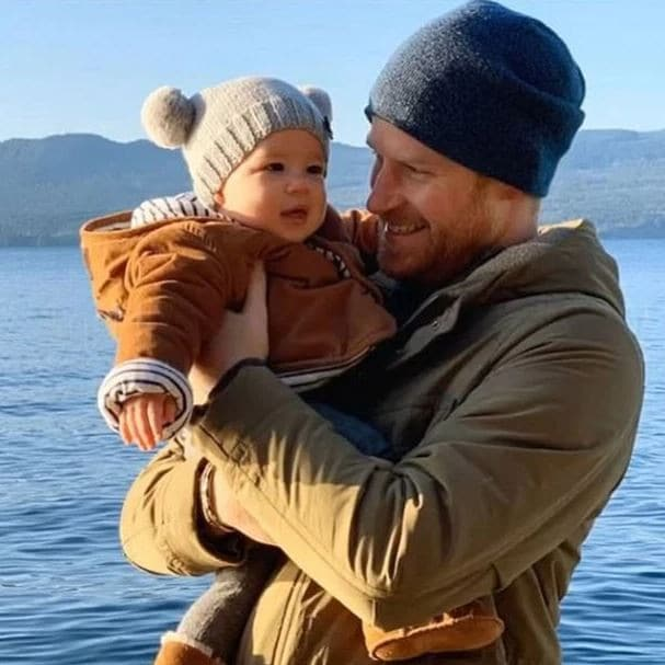 Prince Harry and Archie enjoying calmer waters in Canada. Picture: Instagram