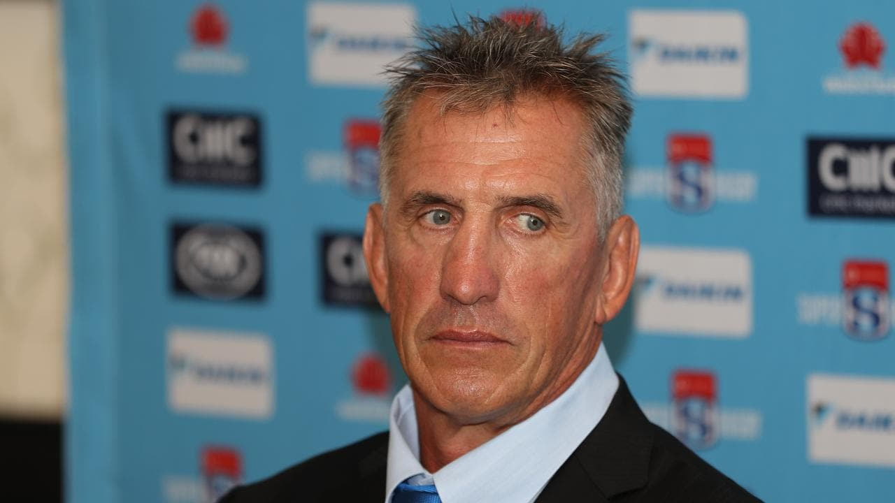 New coach Rob Penney looks on during a NSW Waratahs press conference.
