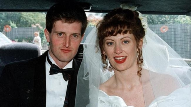 John and Anna on their wedding day. Image: Supplied