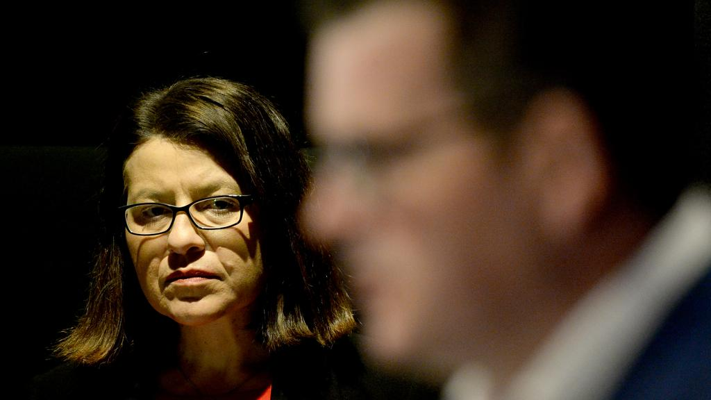 Victorian Premier Daniel Andrews and Health Minister Jenny Mikakos. Picture: Andrew Henshaw