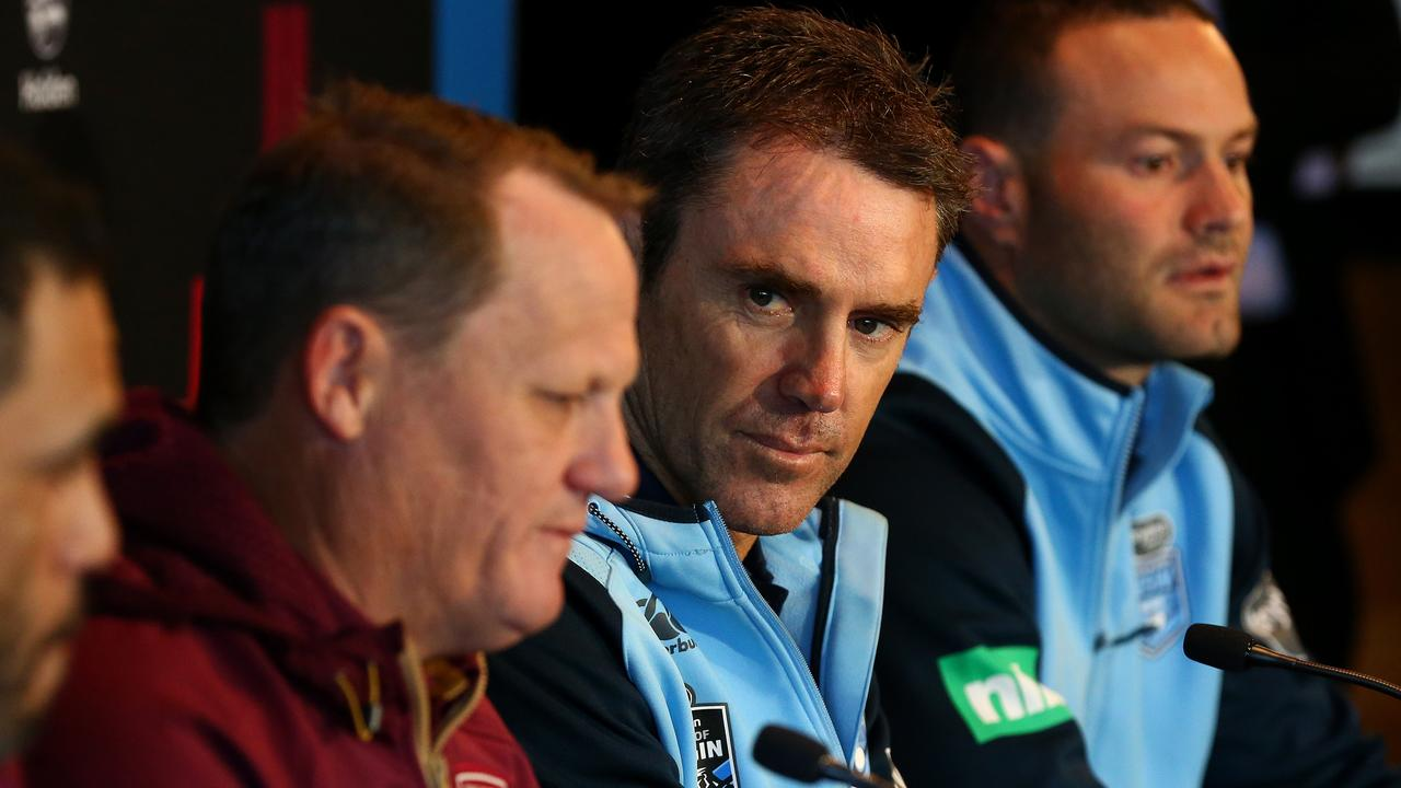 Origin coaches Kevin Walters and Brad Fittler.