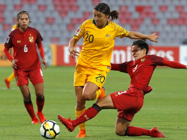 Australia's forward Samantha Kerr. / AFP PHOTO / JACK GUEZ